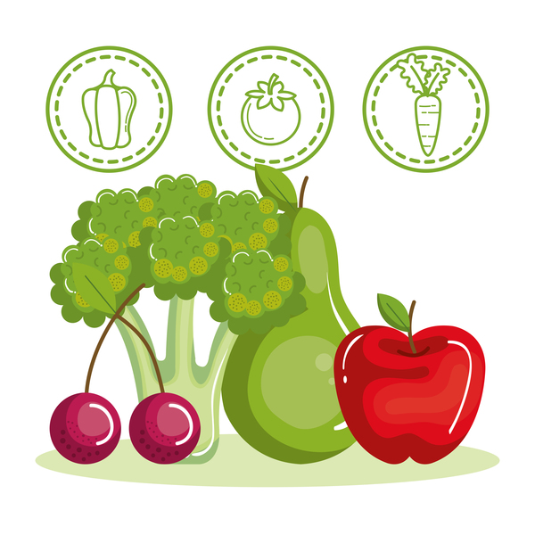 Healthy natural food vector 03