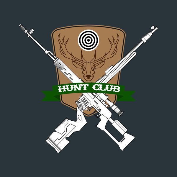 Hunt club logo design vector 01