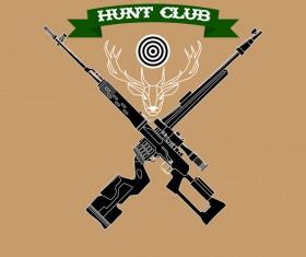 Hunt club logo design vector 02