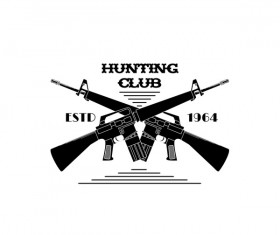 Hunting club logo design vector 01