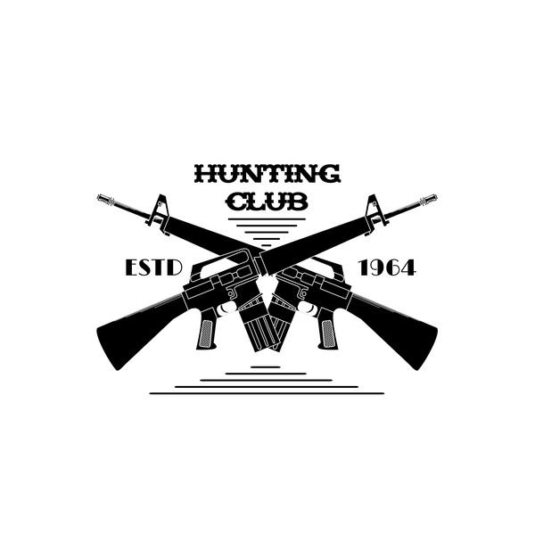 Hunting club logo design vector 01