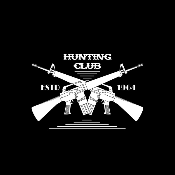 Hunting club logo design vector 02