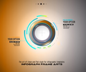 Infographic frames gold template vector