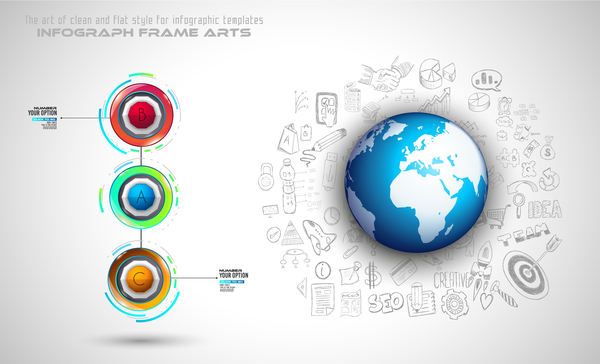 Infographic new line template vector