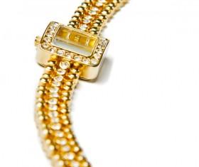 Ladies diamond watch Stock Photo 02