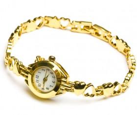 Ladies diamond watch Stock Photo 03