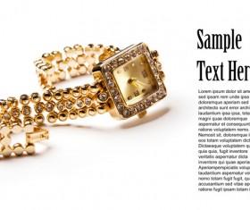 Ladies diamond watch Stock Photo 04