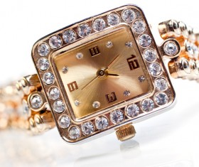 Ladies diamond watch Stock Photo 05