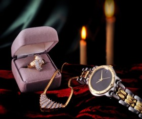 Ladies diamond watch Stock Photo 07