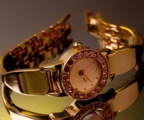 Ladies diamond watch Stock Photo 12
