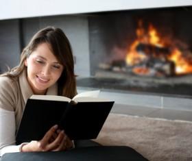 Ladies read books Stock Photo