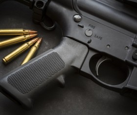 Light weapons and bullets Stock Photo 03