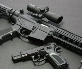 Light weapons and bullets Stock Photo 04