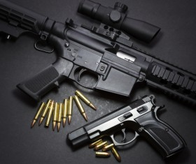 Light weapons and bullets Stock Photo 05