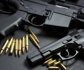Light weapons and bullets Stock Photo 06