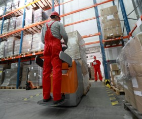 Logistics Center Stock Photo