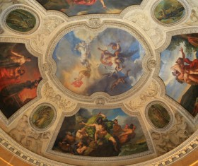 Louvre ceiling frescoes within France HD picture 02