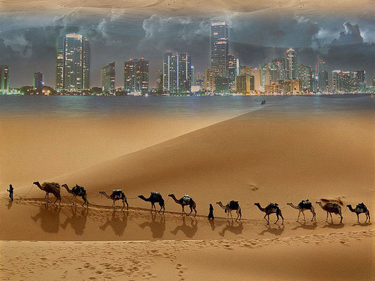 Magnificent mirage Stock Photo