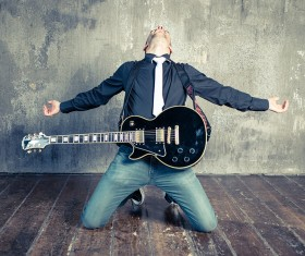 Man guitar Stock Photo