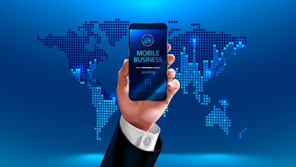 Mobile smart business template vectors