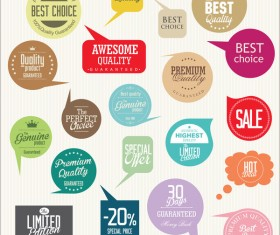 Modern badges and labels vector design set