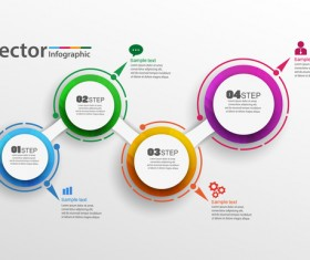 Modern circles infographic vector template 01