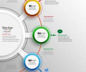Modern circles infographic vector template 02