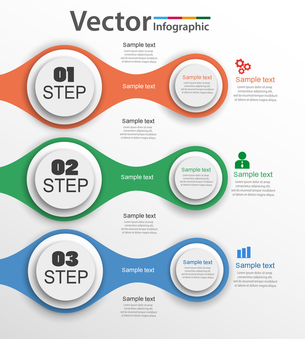 Modern circles infographic vector template 05
