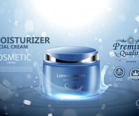 Moisturizer cosmetic cream poster vectors 01
