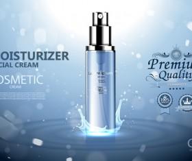 Moisturizer cosmetic cream poster vectors 02