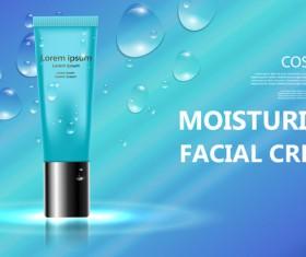 Moisturizer cosmetic cream poster vectors 03
