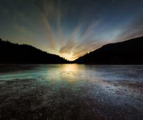 Mountain lakes beautiful sunrise HD picture