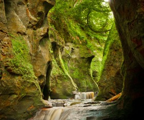 Natural beauty Monmouth County devil pulpit Stock Photo 01
