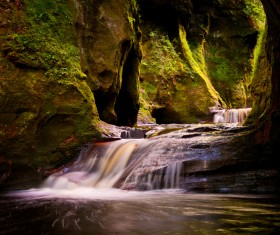 Natural beauty Monmouth County devil pulpit Stock Photo 02