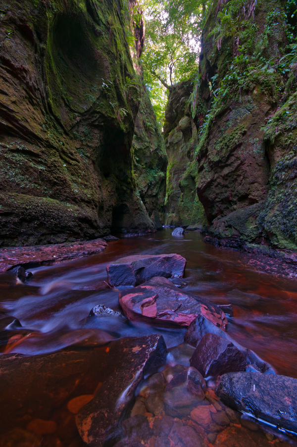 Natural beauty Monmouth County devil pulpit Stock Photo 03