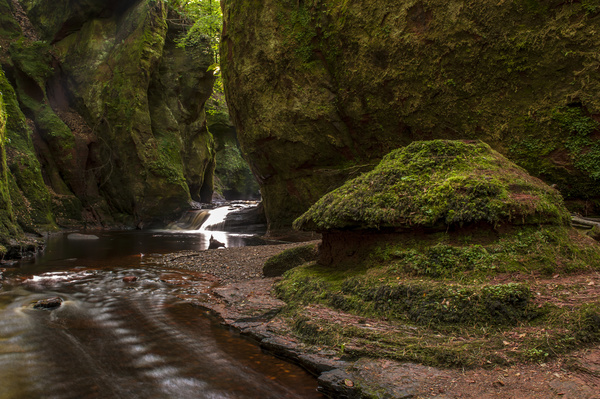 Natural beauty Monmouth County devil pulpit Stock Photo 04
