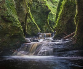 Natural beauty Monmouth County devil pulpit Stock Photo 05