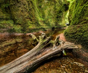 Natural beauty Monmouth County devil pulpit Stock Photo 06
