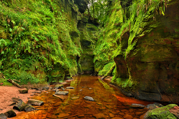 Natural beauty Monmouth County devil pulpit Stock Photo 07