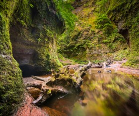 Natural beauty Monmouth County devil pulpit Stock Photo 08