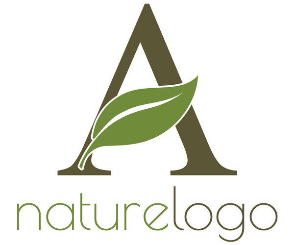 Nature logo design vectors