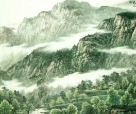 Nice natural landscape landscape painting HD picture