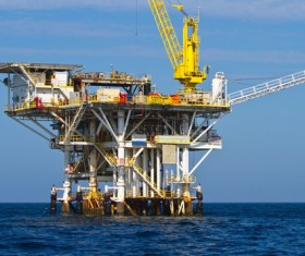 Offshore oil platform Stock Photo 02