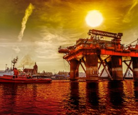 Offshore oil platform Stock Photo 03