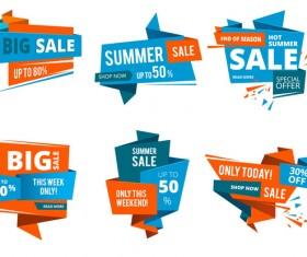 Origami big sale labels vector