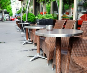 Outdoor terrace cafe HD picture 01