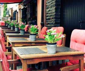 Outdoor terrace cafe HD picture 03
