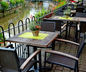 Outdoor terrace cafe HD picture 04