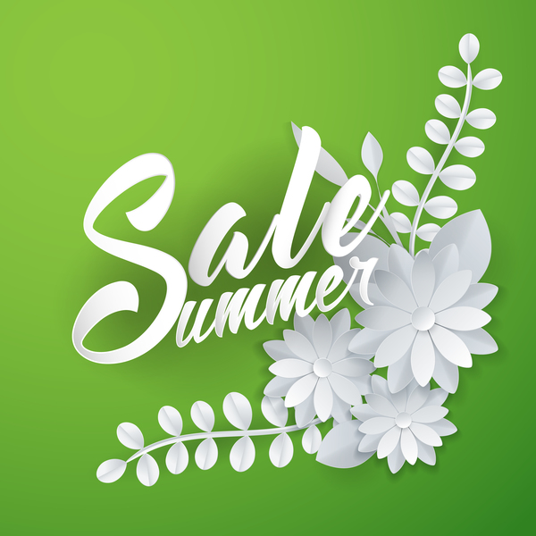 Summer sale lettering with paper art flowers free download summer sale lettering with paper art flowers mightylinksfo