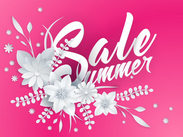 Paper cutting flower with summer sale background vector 06 free download paper cutting flower with summer sale background vector 06 mightylinksfo